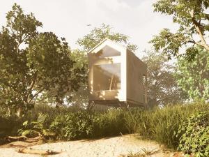 Budějcká firma navrhla unikátní dřevěné domečky. Tripeek nadchne jako chalupa i investice