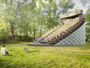 Otáčivé hlediště v Týně nad Vltavou bude po představeních v parku svítit