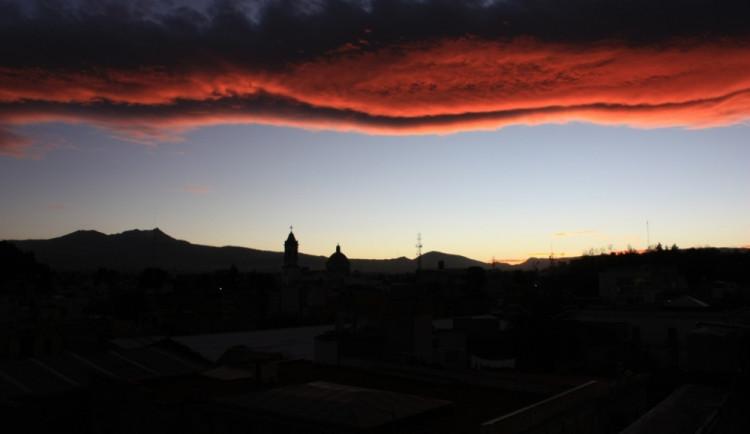 Západ slunce v Toluce