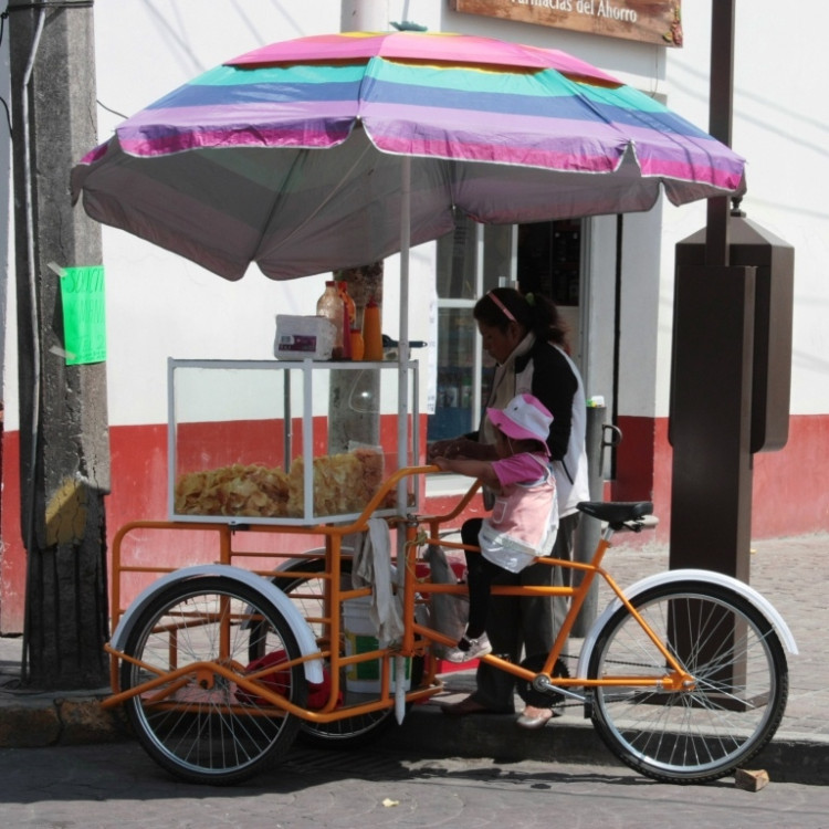 Toluca - pouliční prodavačka lupínků