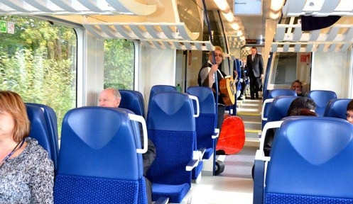 Premiérová jízda vlaku RegioPanter