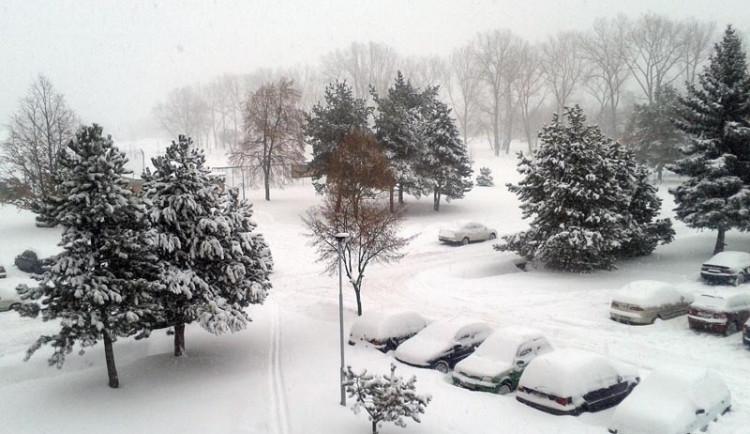 Sněhová nadílka v jižních Čechách