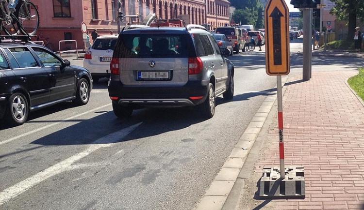 Dopravní uzavírka ulice F. A. Gerstnera