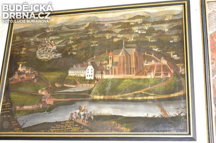 Obraz ze 16. století představuje klášter i okolní osady a vesnice v majetku cisterciáků