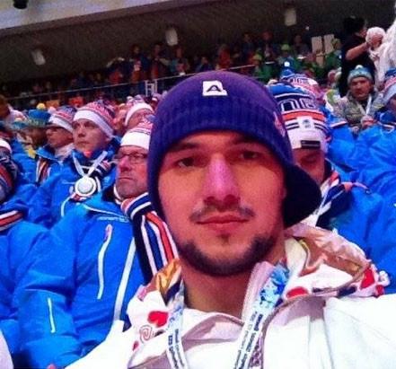 Jakub Kovář na slavnostním zahájení olympiády