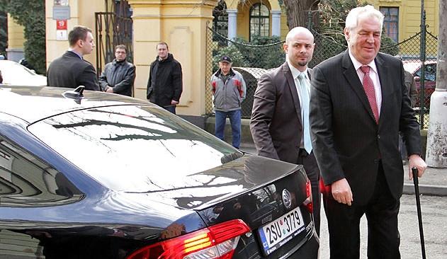 Prezident Miloš Zeman v Českých Budějovicích