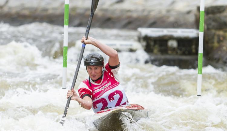 Český pohár ve vodním slalomu na kanále Lídy Polesné v Českém Vrbném