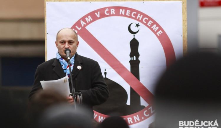 V Budějcích protestovali proti islámu