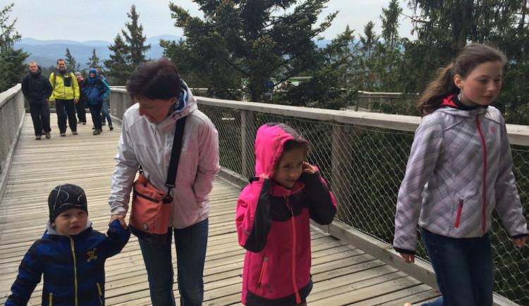 Miliontý návštěvník na Stezce korunami stromů Lipno