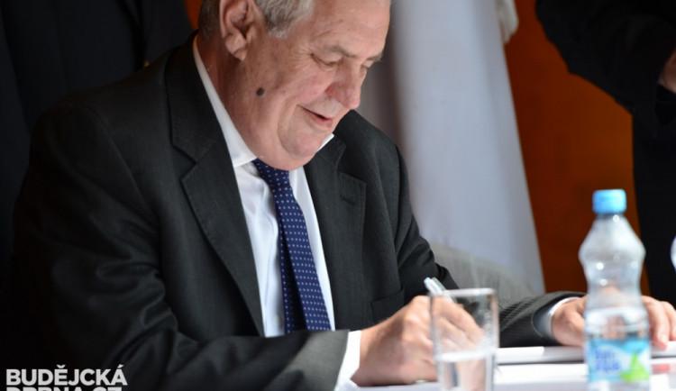 Prezident Miloš Zeman při návštěvě Jihočeského kraje - den druhý