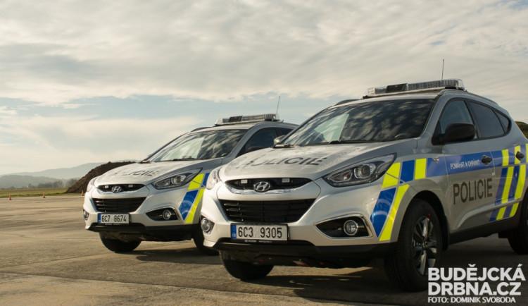 Představení nových vozů jihočeské policie