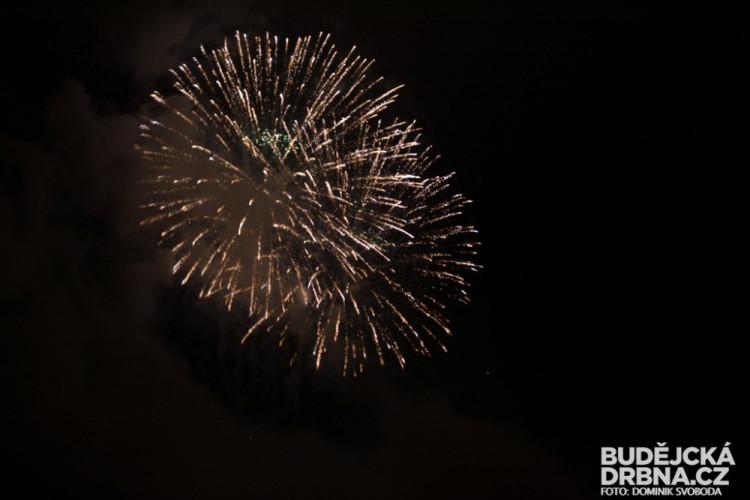 Novoroční ohňostroj v Protivíně