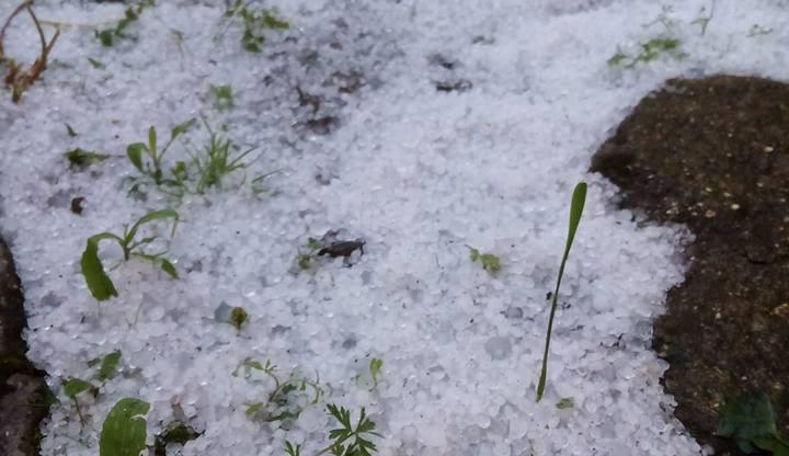 Krupobití v jižních Čechách