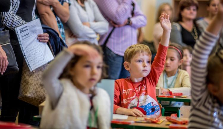 První školní den v budějckých školách
