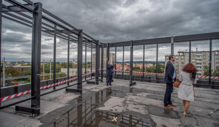 Dokončení hrubé stavby Piana v Českých Budějovicích
