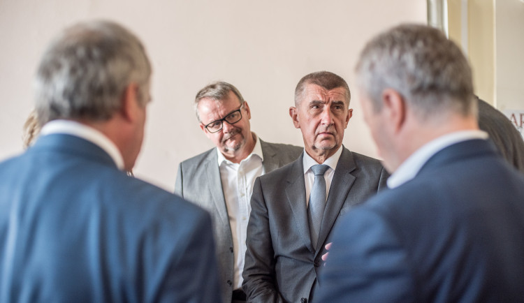 Předseda vlády Andrej Babiš v Českých Budějovicích