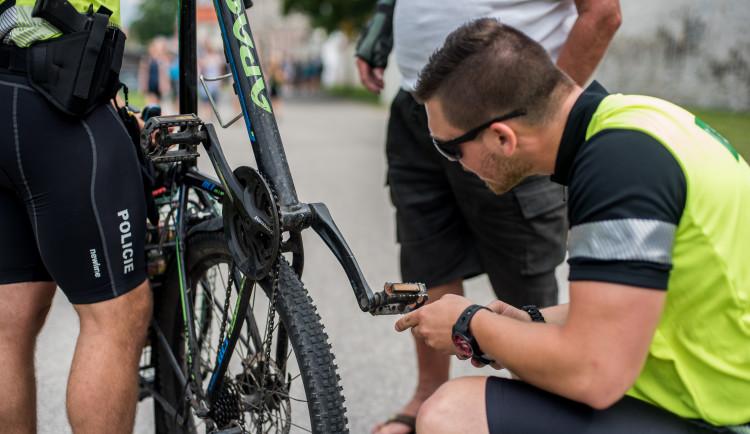 Dopravně bezpečnostní akce policie zaměřená na cyklisty v Českých Budějovicích