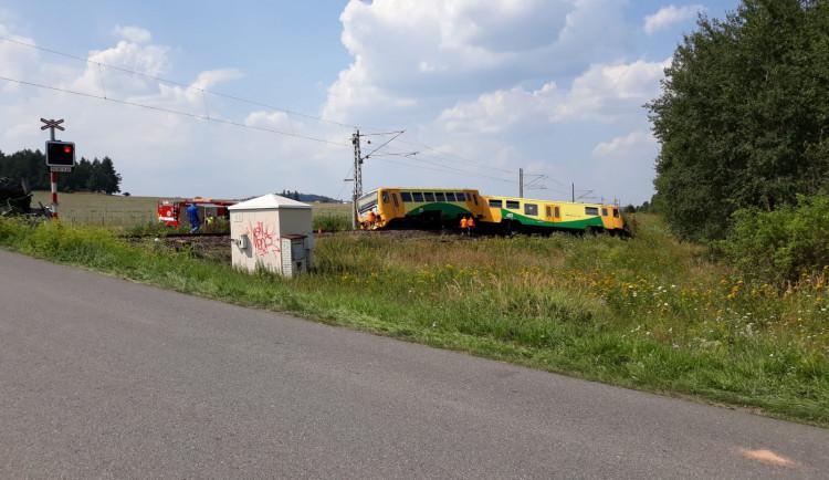 Nehoda traktoru a vlaku u Písku