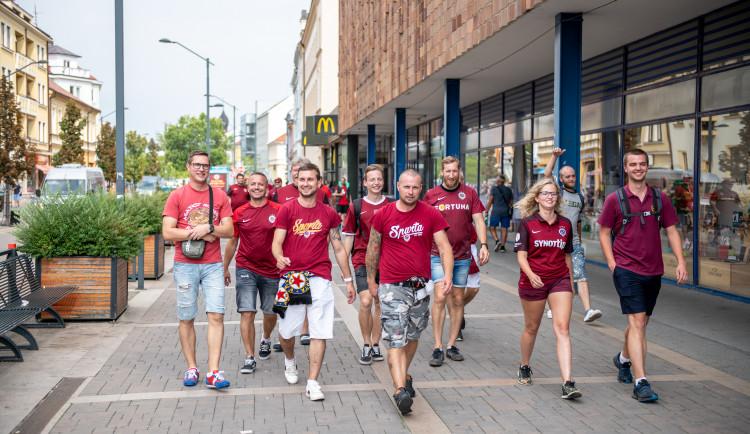 Sparťanští fanoušci dorazili do Budějc