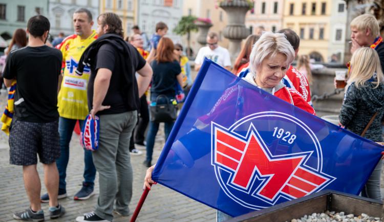 Pochod fanoušků Motoru před první zápasem Chance ligy