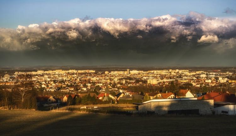 Bouře Sabine v Budějcích