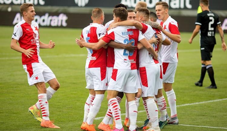 FOTOGALERIE: Slavia na jihu Čech dominovala a vykročila za obhajobou