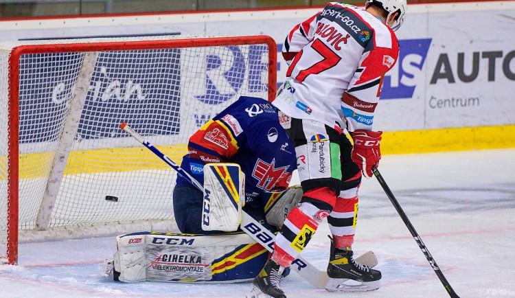 FOTOGALERIE: Jeden jediný gól. Chudé utkání ovládly Pardubice, Motor se doma stále trápí